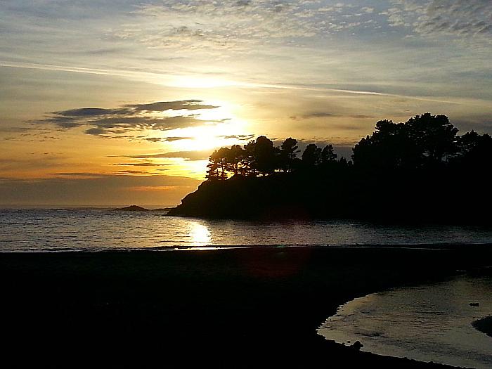 Sunset at Van Damme Beach - Little River, Callifornia