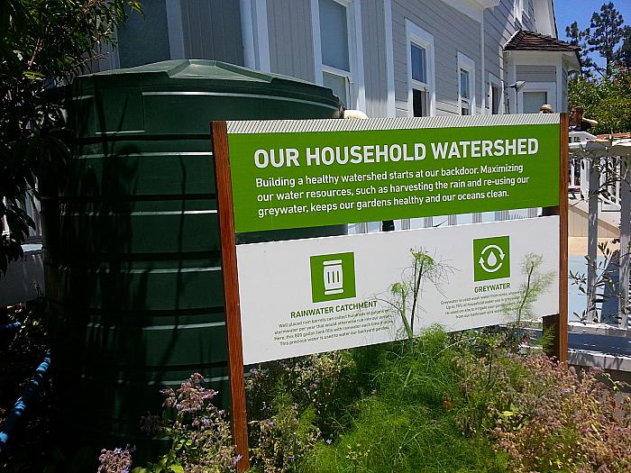Rainwater recycling at The Ecology Center - San Juan Capistrano, California