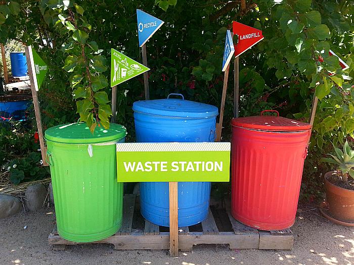 Recycling at The Ecology Center - San Juan Capistrano, California