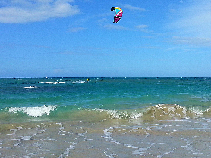 Kite Surfer at Playa Dorada - Dominican Republic