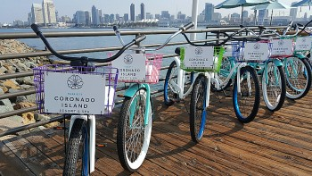 Biking on Coronado Island - San Diego, California