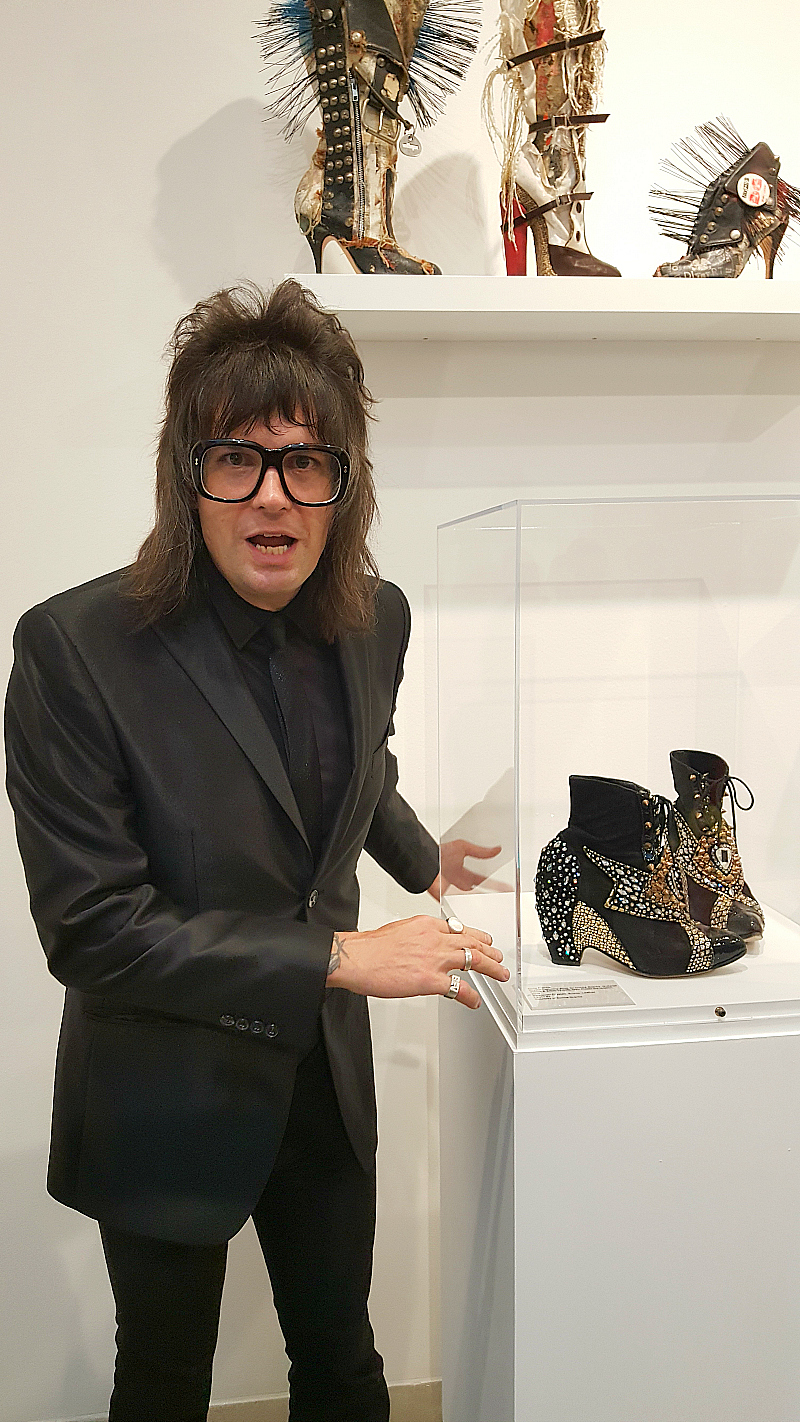 Chris Francis Rock 'n Roll Footwear Exhibition at MOAH Lancaster