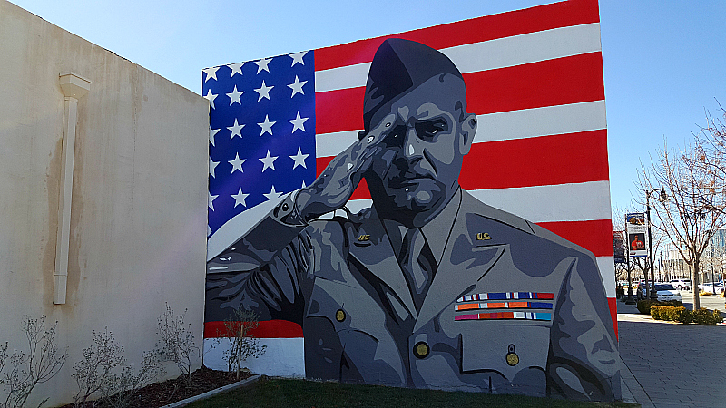 Hometown Heroes Mural in Lancaster, California