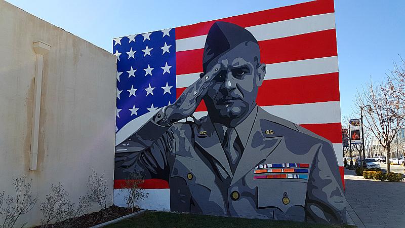 Hometown Heroes Mural in Lancaster, California