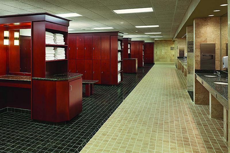 Life Time Athletic Locker Room