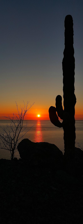 Sunrise at the 17th hole of the Danzante Bay Golf Course at Villa Del Palmar Islands of Loreto - Baja California Sur, Mexico
