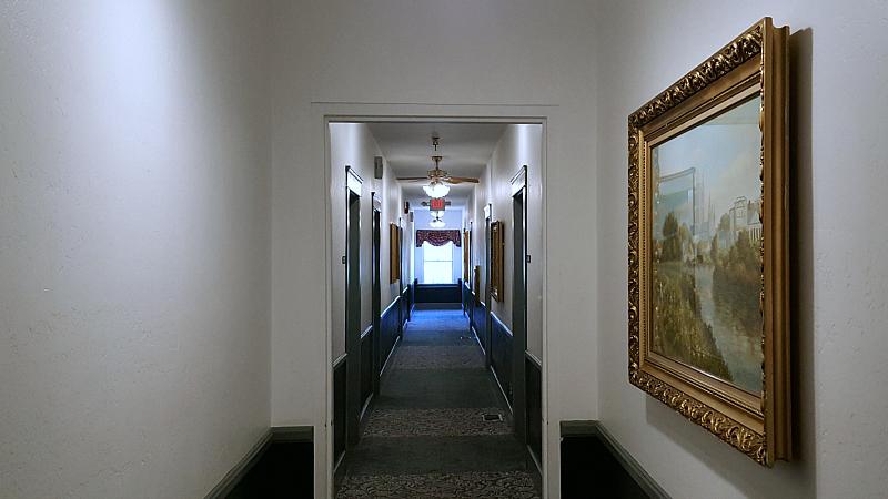 Hallway at the Historic Santa Maria Inn
