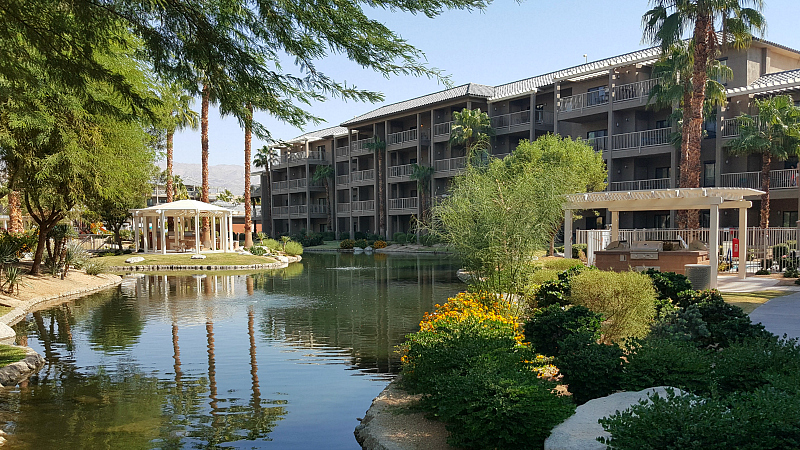 Pond at Wyndham Worldmark in Indio, California