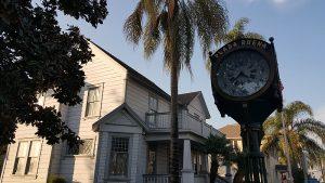 Antique Clock at Buena Park Historic District