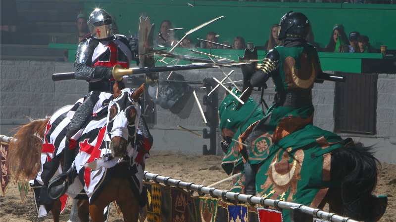 Jousting at Medieval Times Buena Park