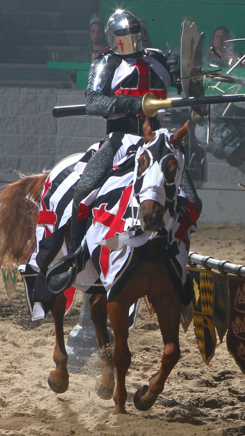 Jousting at Medieval Times Dinner and Tournament in Buena Park California