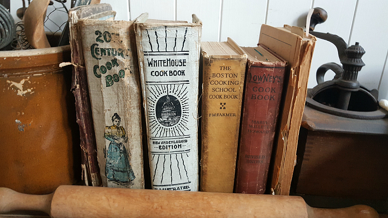 Vintage Cookbooks at the Whitaker Jayne House