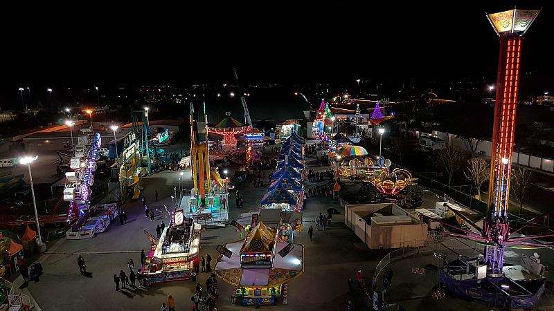 Ferris Wheel View Winter Fest Carnival