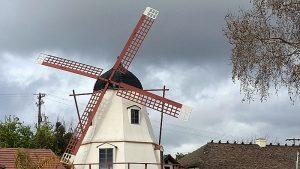 windmill solvang rain clouds