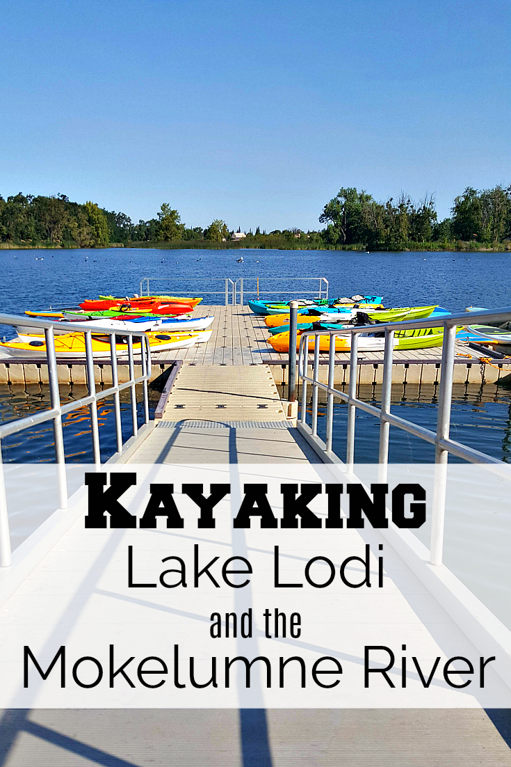 Kayaking Lake Lodi and the Mokelumne River California