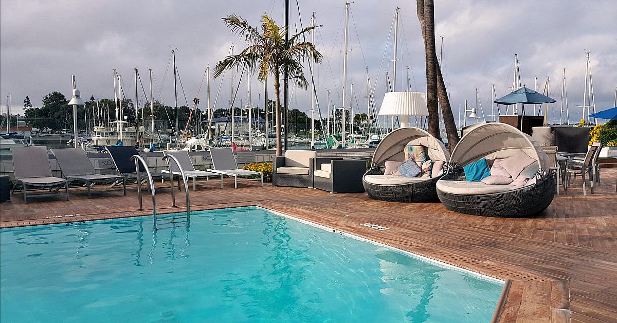 mdr marina del rey hotel pool