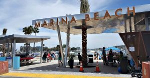 mdr marina beach sign