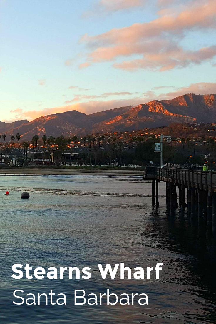 pin stearns wharf sunset santa barbara