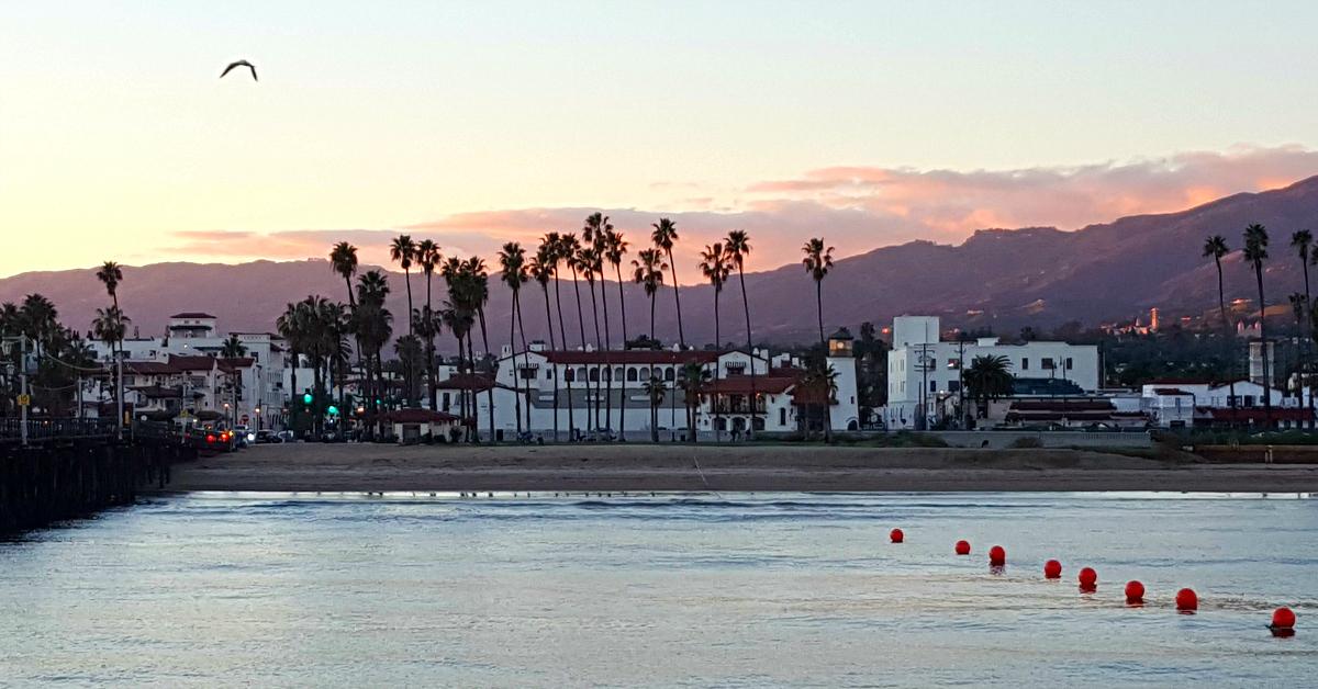 santa barbara view from wharf