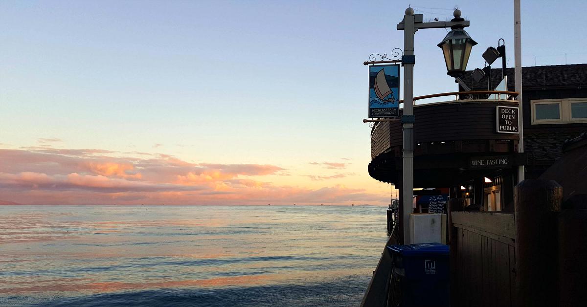 sunset stearns wharf