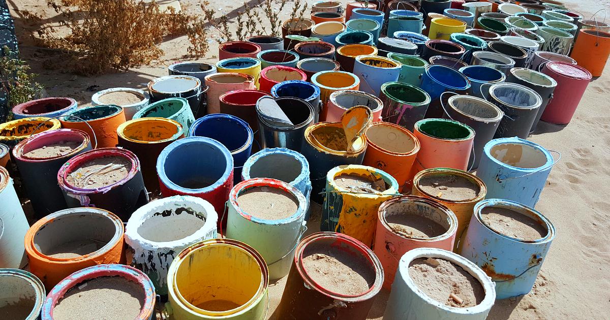 empty paint cans salvation