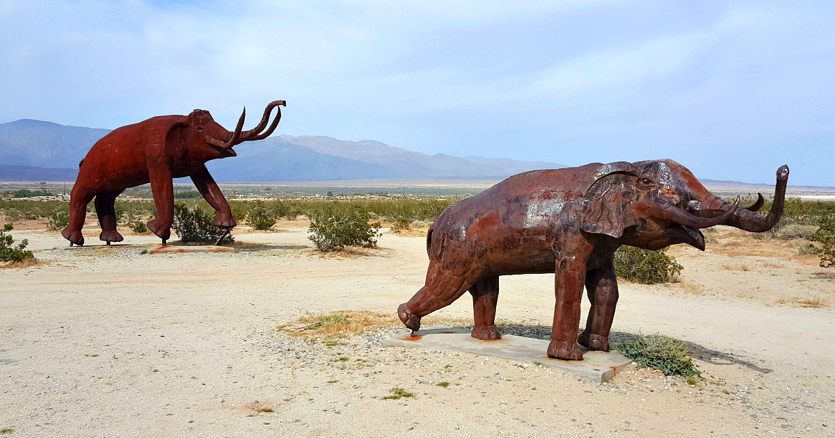 feature galleta meadows borrego springs metal elephant sculptures