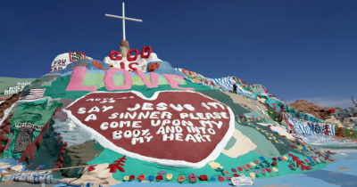 feature salvation mountain god is love