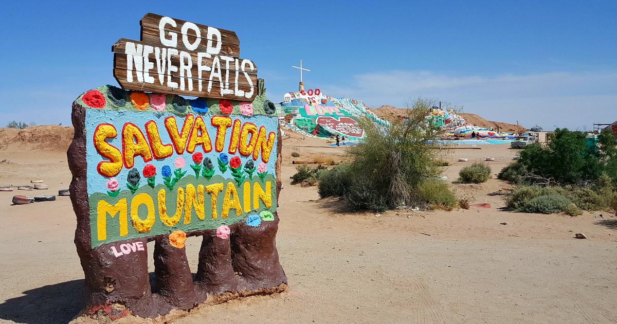 god never fails salvation mountain slab city