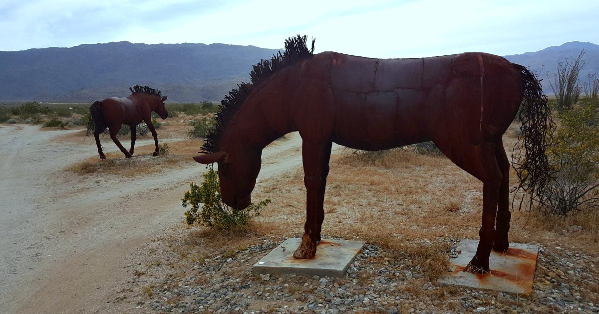 metal horses galleta meadows