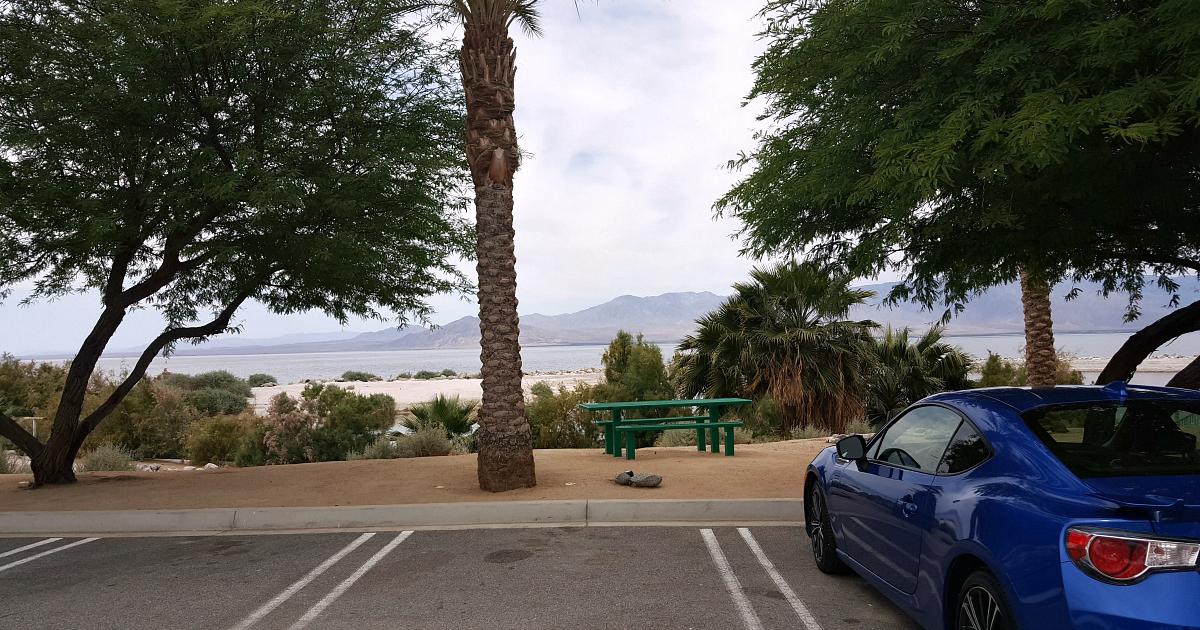 north shore beach parking lot
